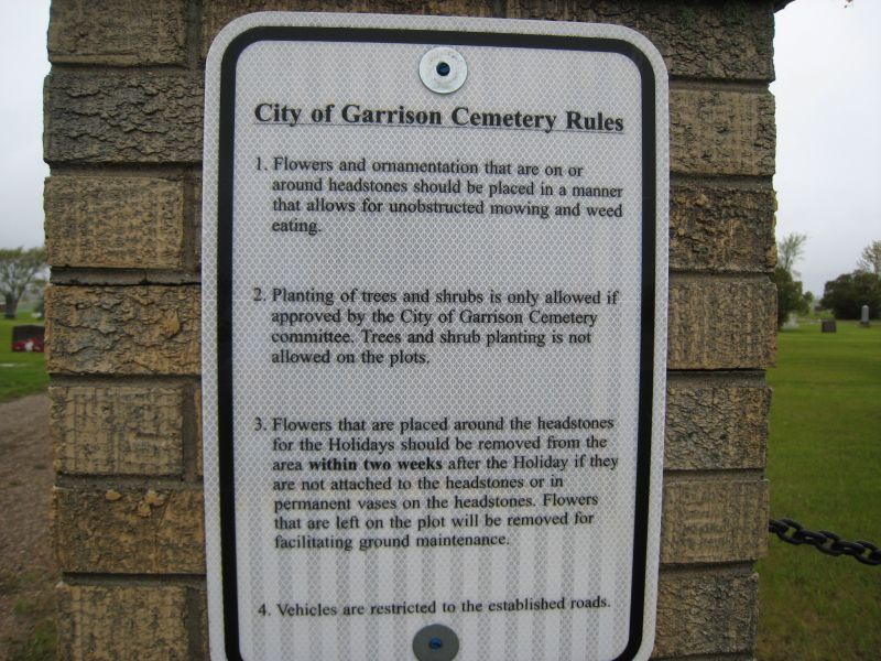 City Cemetery Rules